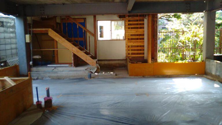 鉄骨と木造の混構造の住宅改修